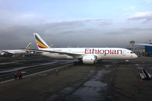 エチオピア航空のB787機