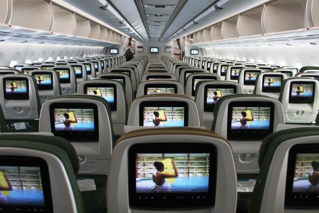 エチオピア航空A350機内