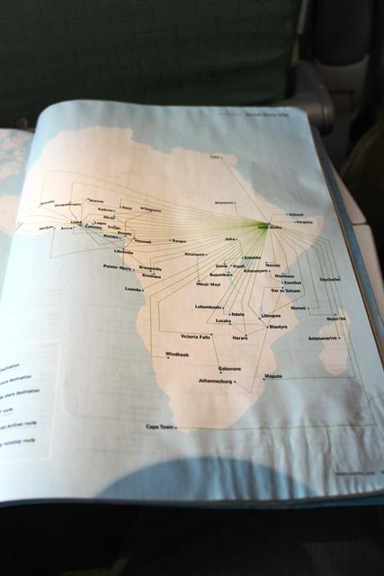 充実したアフリカ路線図