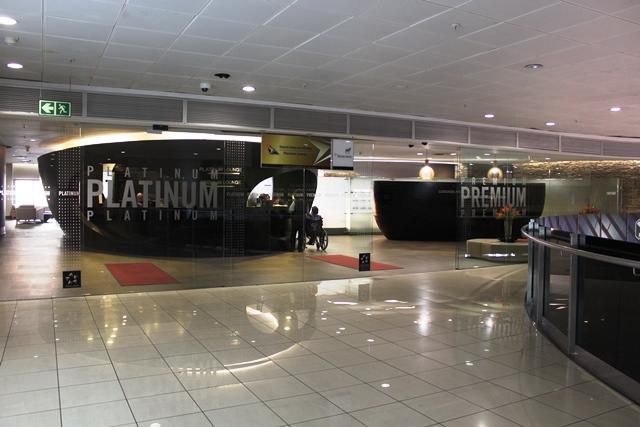 ヨハネスブルグ 南アフリカ航空 ラウンジ:ラウンジ入口