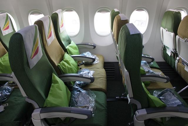エチオピア航空 737 エコノミー:エコノミークラスシート