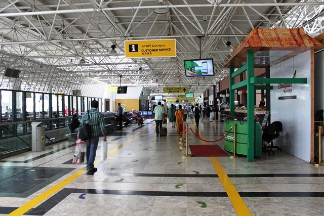 オフピークのアディスアベバ空港