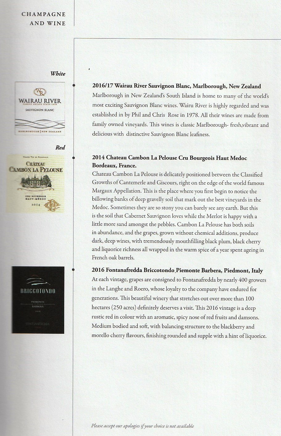 白ワインと赤ワイン