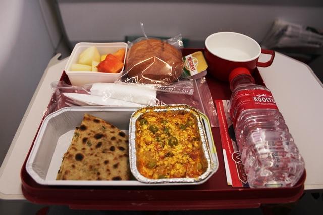 エアインディアの朝食