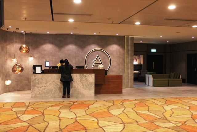シンガポール トランジット ホテル:フロント