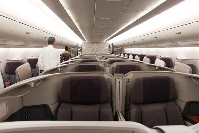 シンガポール航空 新A380 ビジネスクラス:新A380ビジネスクラス