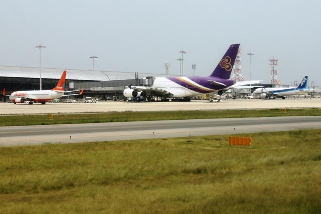 タイ国際航空のA380が駐機していました