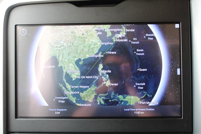 シンガポールまでの進路