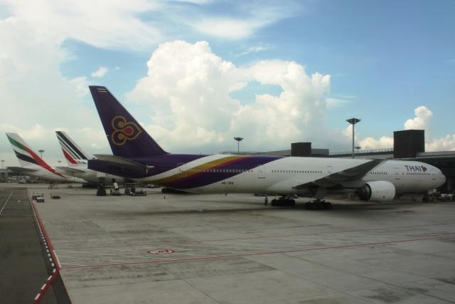 タイ国際航空の777-300ER機