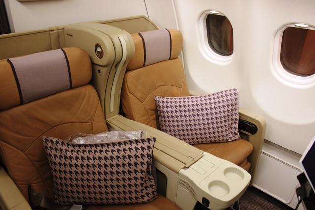 シンガポール航空 ビジネスクラス 比較:旧近シート