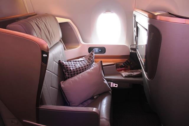 A350のビジネスクラスシート