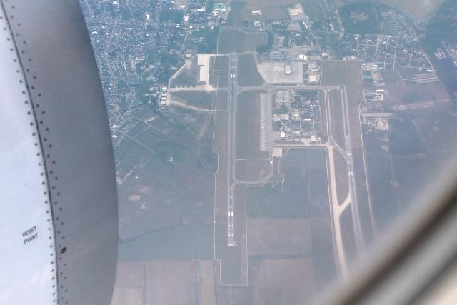 ブカレスト空港上空