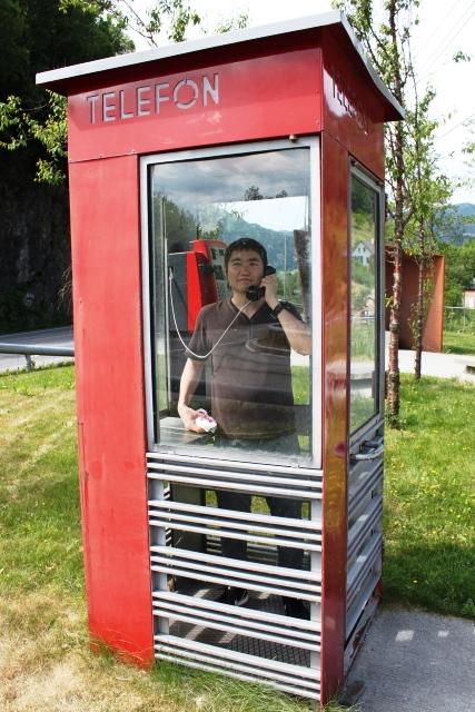 昔ながらの電話ボックス