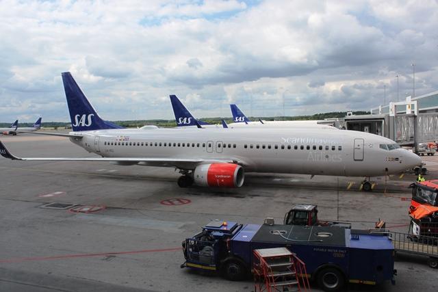 これから乗るSASの737機