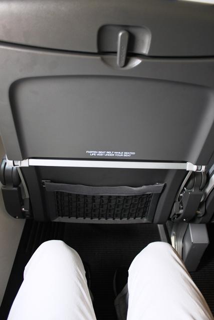 SAS 737 搭乗記:広いシートピッチ