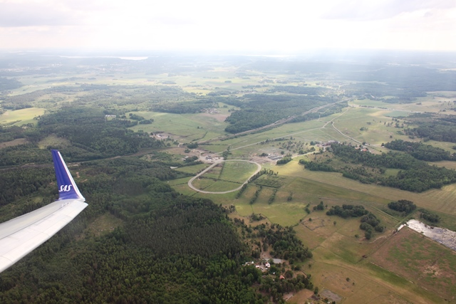 離陸後のアーランダ空港近辺の景色