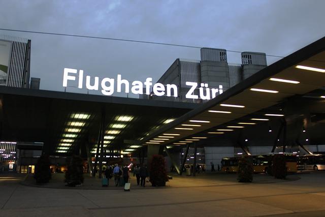 チューリッヒ空港入口