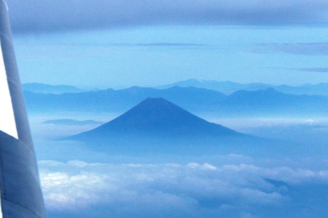 富士山と日本アルプス
