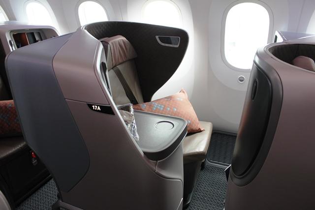 シンガポール航空 787 ビジネスクラス:17A