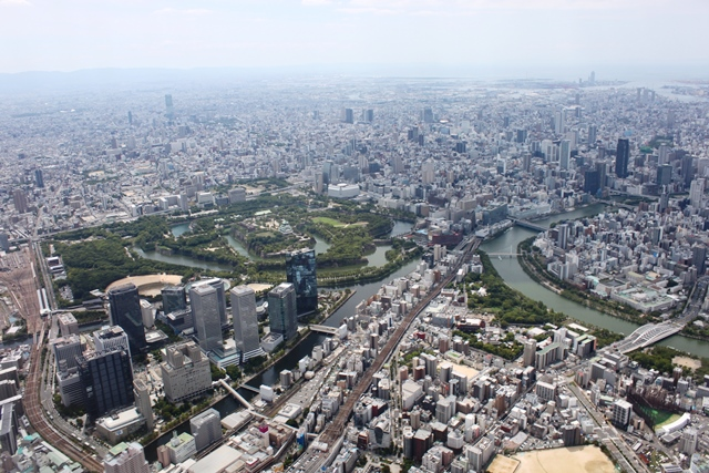 大阪ビジネスパークと大阪城公園
