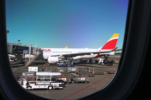 隣にはイベリア航空A330-200機が
