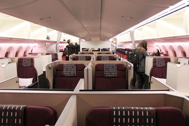 JAL787-8のビジネスクラス(SS8)