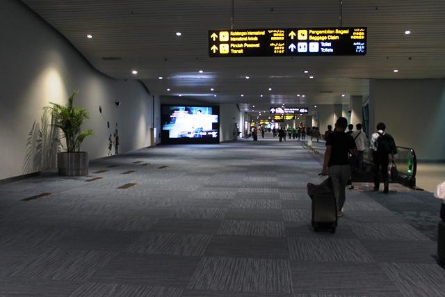 新しい第3ターミナル到着エリア