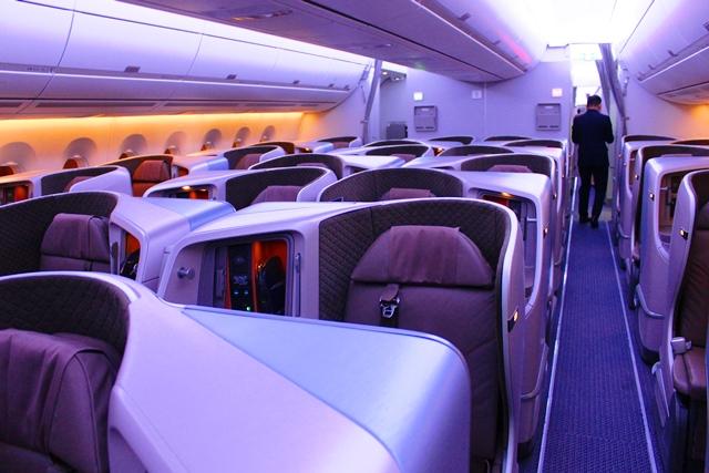 シンガポール航空 A350 ビジネスクラス:新A350ビジネスクラス