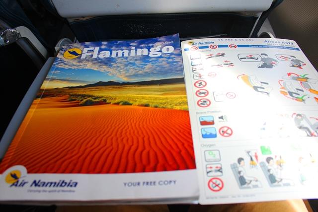機内雑誌と安全カード