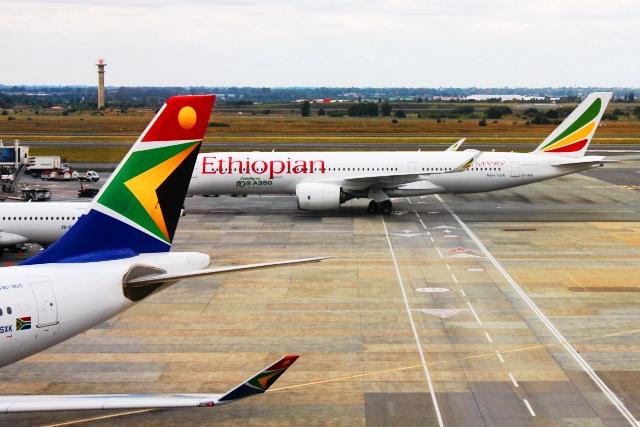 これから乗るエチオピア航空A350機
