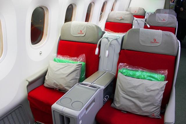 エチオピア航空 ビジネスクラス:シート