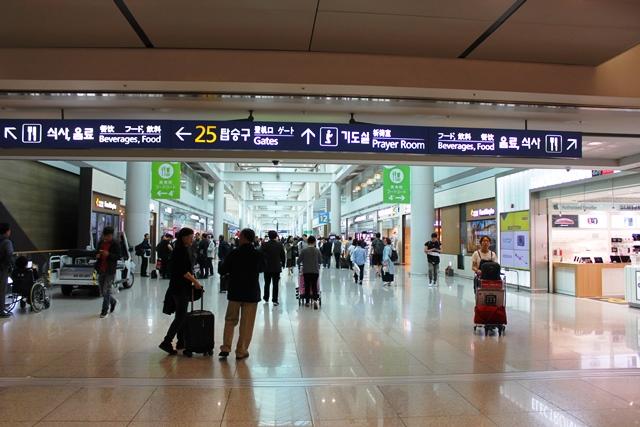 仁川空港第1ターミナル内