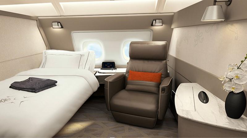 シンガポール航空新型A380のファーストクラス