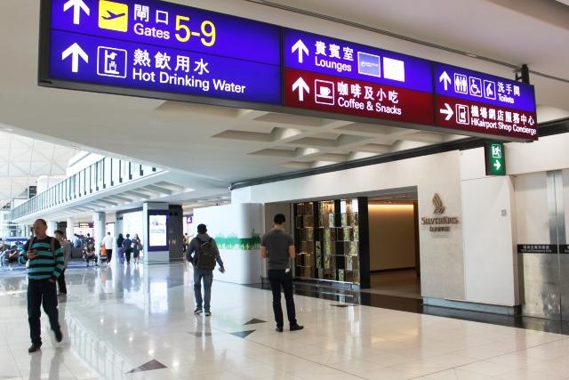 香港 シンガポール航空 ラウンジ:ラウンジ入口
