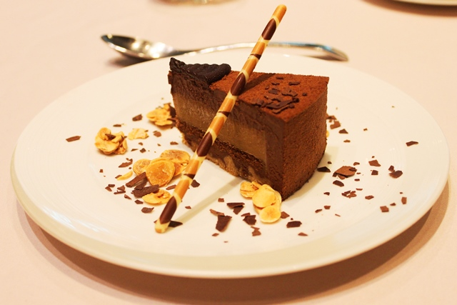 Coffee Cream Brulee, Milk Chocolate Cake