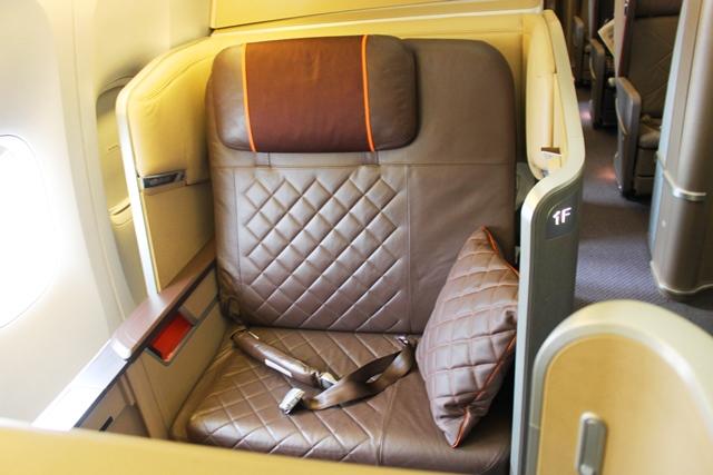 シンガポール航空 777 ファーストクラス:SQ-SIN-PVG-F